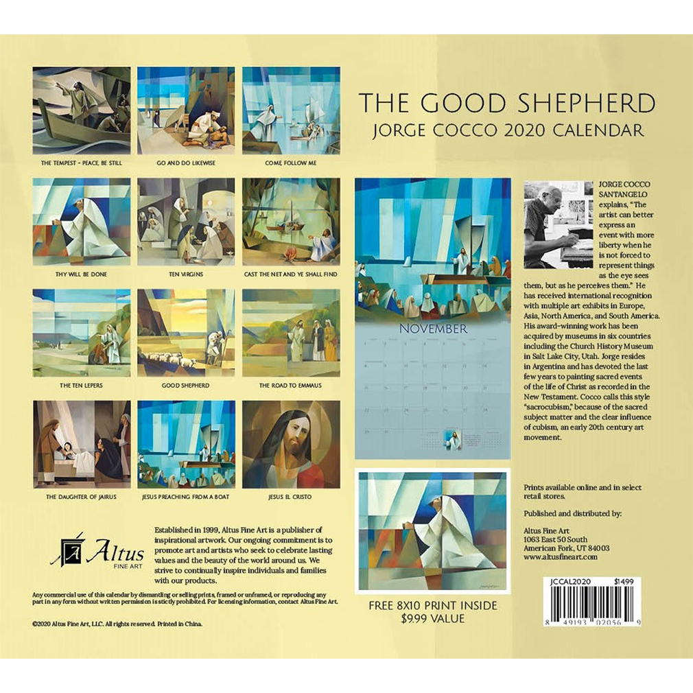 2020 Jorge Cocco Calendar - The Good Shepherd - AFA-JCCAL2020