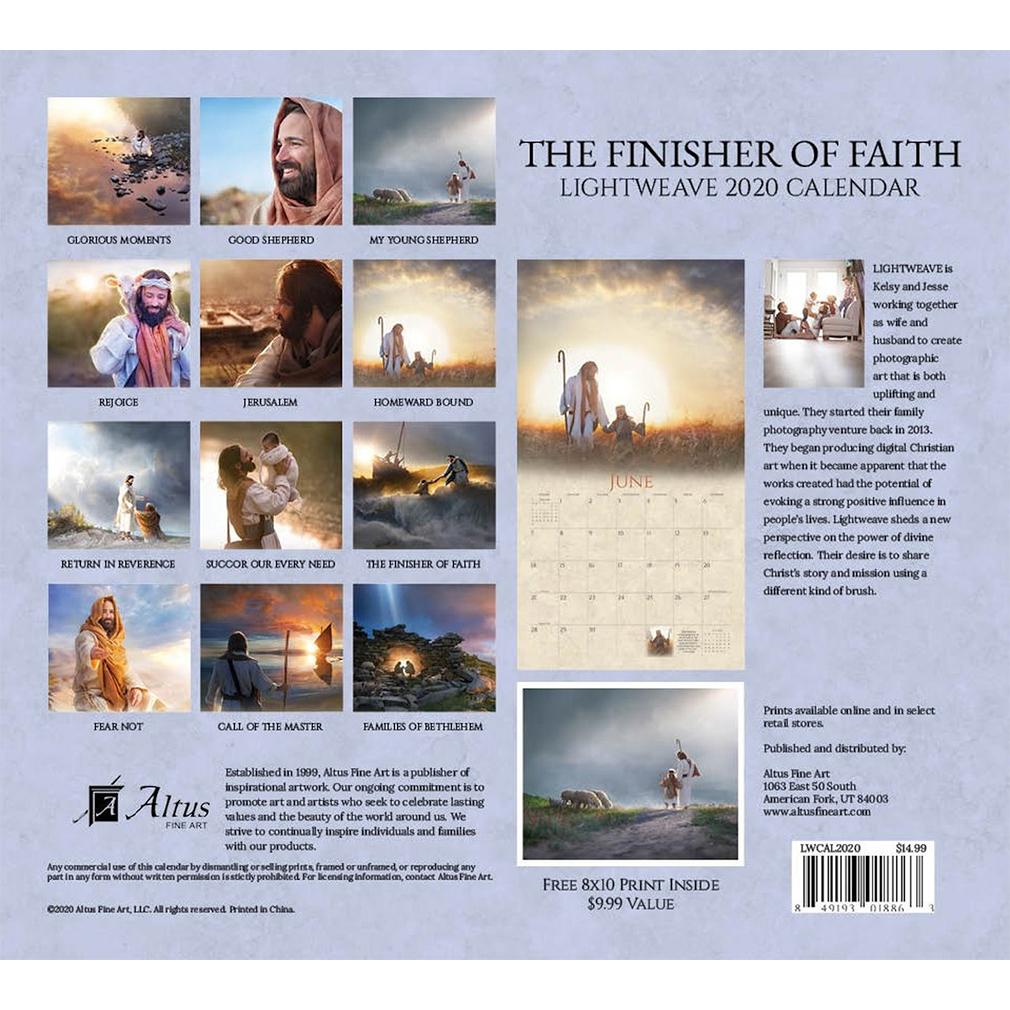 2020 Lightweave Calendar - The Finisher of Faith - AFA-LWCAL2020