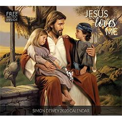 2020 Simon Dewey Calendar - Jesus Loves Me simon dewey art, simon dewey wall calendar, lds wall calendar, christ calendar, religious calendar