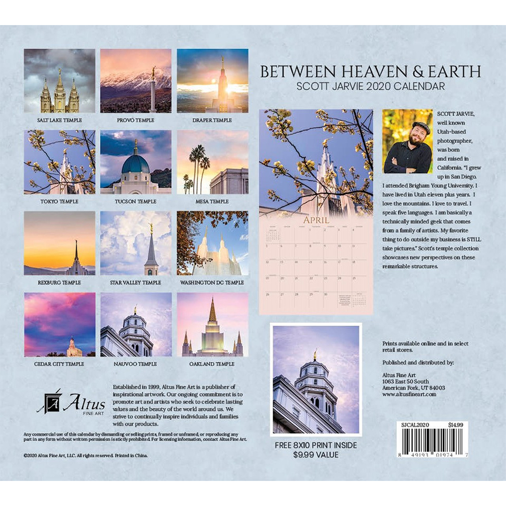 2020 Scott Jarvie Calendar - Between Heaven & Earth - AFA-SJCAL2020