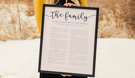 Framed LDS Proclamations