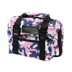 Pink and Blue Camo Scripture tote