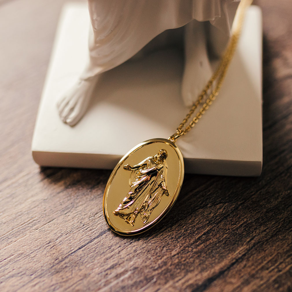 Christus Pendant Necklace - Silver/Gold - LDP-CHRIST-PEN