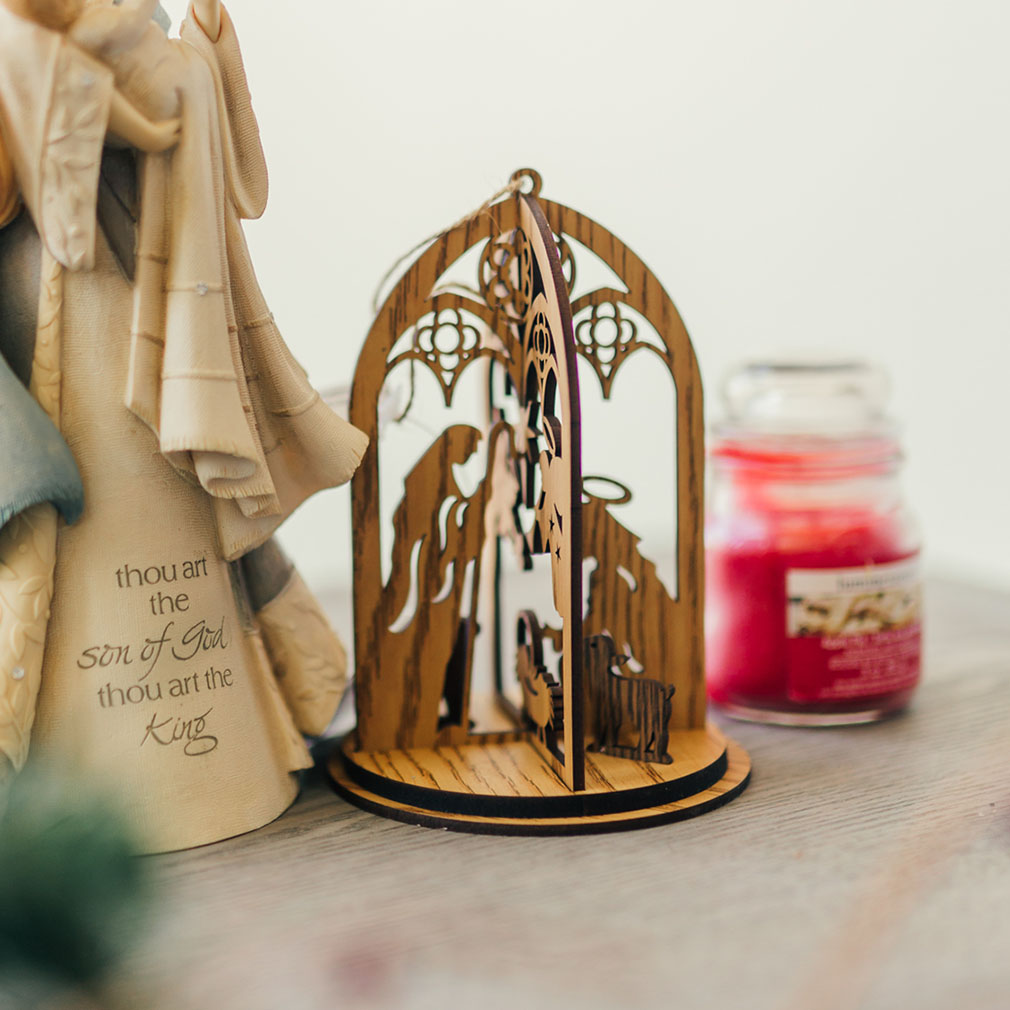 Holy Family 3D Wood Ornament - ENC-6004616