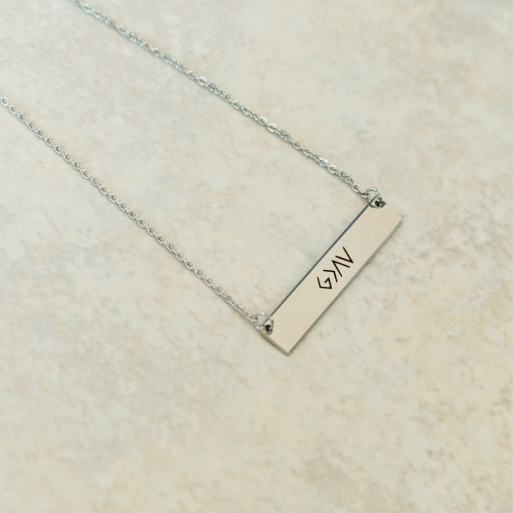 God is Greater Than the Highs and Lows Horizontal Bar Necklace - FP-HBN125