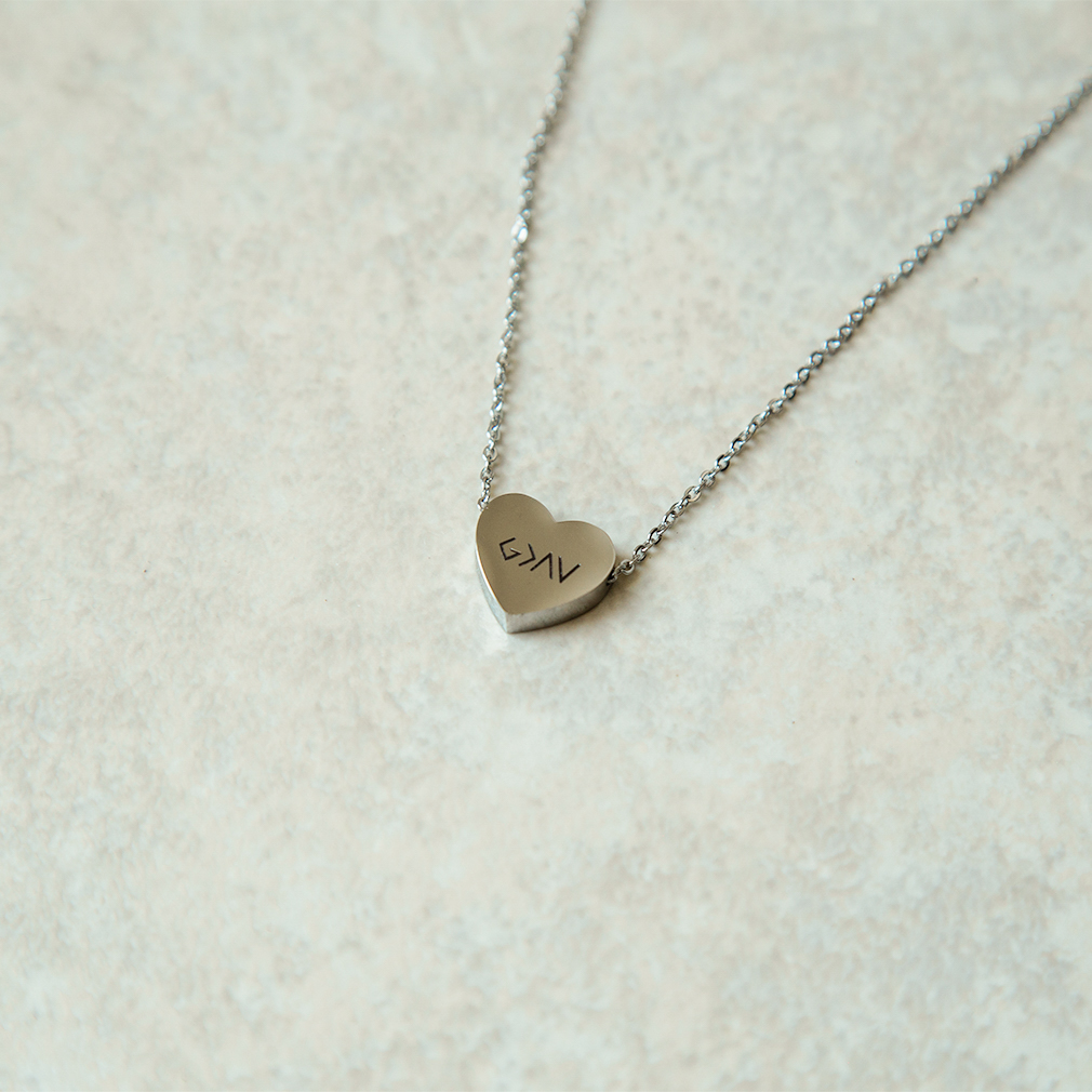 God is Greater Than the Highs and Lows Mini Heart Necklace - FP-MHN101