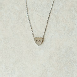 God is Greater Than the Highs and Lows Mini Heart Necklace god is greater necklace, heart necklace, engravable heart necklace, mini heart necklace, text necklace