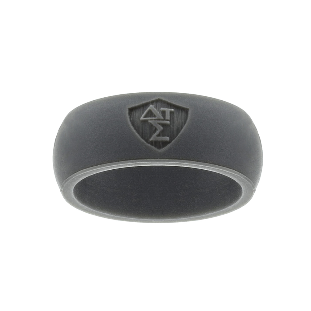 Greek Silicone CTR Ring silicone ctr ring, lds silicone ring, ctr silicone ring, mens ctr ring, men ctr ring, greek ctr ring