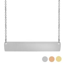 Customizable Horizontal Bar Necklace custom necklace, custom bar necklace, text necklace, antique-looking necklace, bar necklace, text bar necklace, gold bar necklace, personalizable bar necklace