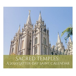 2020 Sacred Temples Calendar 2020 lds calendar, lds calendar, daily inspirations calendar, lds daily calendar, lds desk calendar