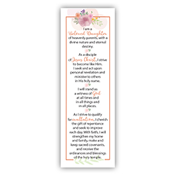 Young Women Theme Bookmark young women theme bookmark, 2020 young women theme bookmark, young womens theme, lds young womens theme