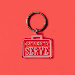 Called to Serve Acrylic Keychain lds keychains, lds keychain, lds quote keychain