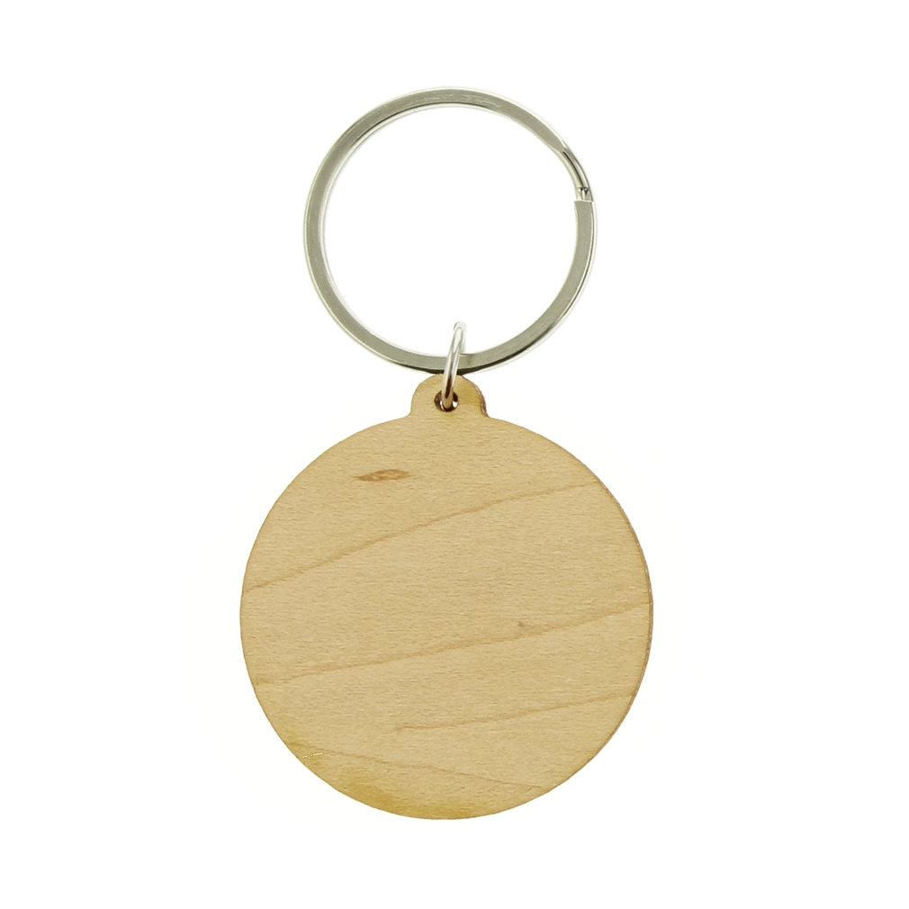 My Heart Is In Missionary Mom Wood Keychain - LDP-KC-MYHEART-WOOD