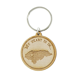My Heart Is In Missionary Mom Wood Keychain