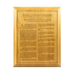 Living Christ Wood Plaque living christ wood plaque