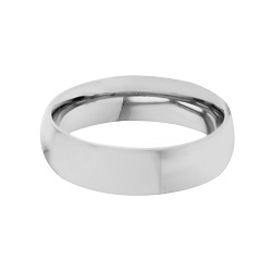 Domed Stainless Steel Matte Finish Ring - Narrow custom ring, make your own ring, engrave-able ring, engraved ring, personalized ring, customized ring