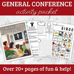 General Conference Activity Packet general conference printable, general conference activity packet, general conference printable, general conference packet