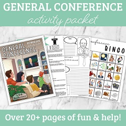 General Conference Activity Packet general conference printable, general conference activity packet, free general conference printable, general conference packet