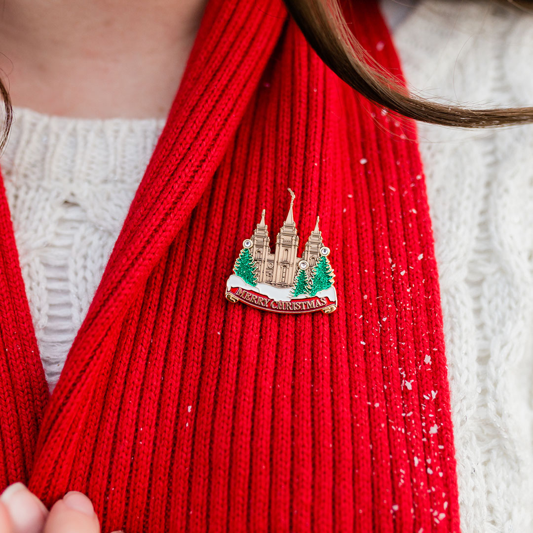 Salt Lake City Temple Pin - Merry Christmas - SA-TPN033