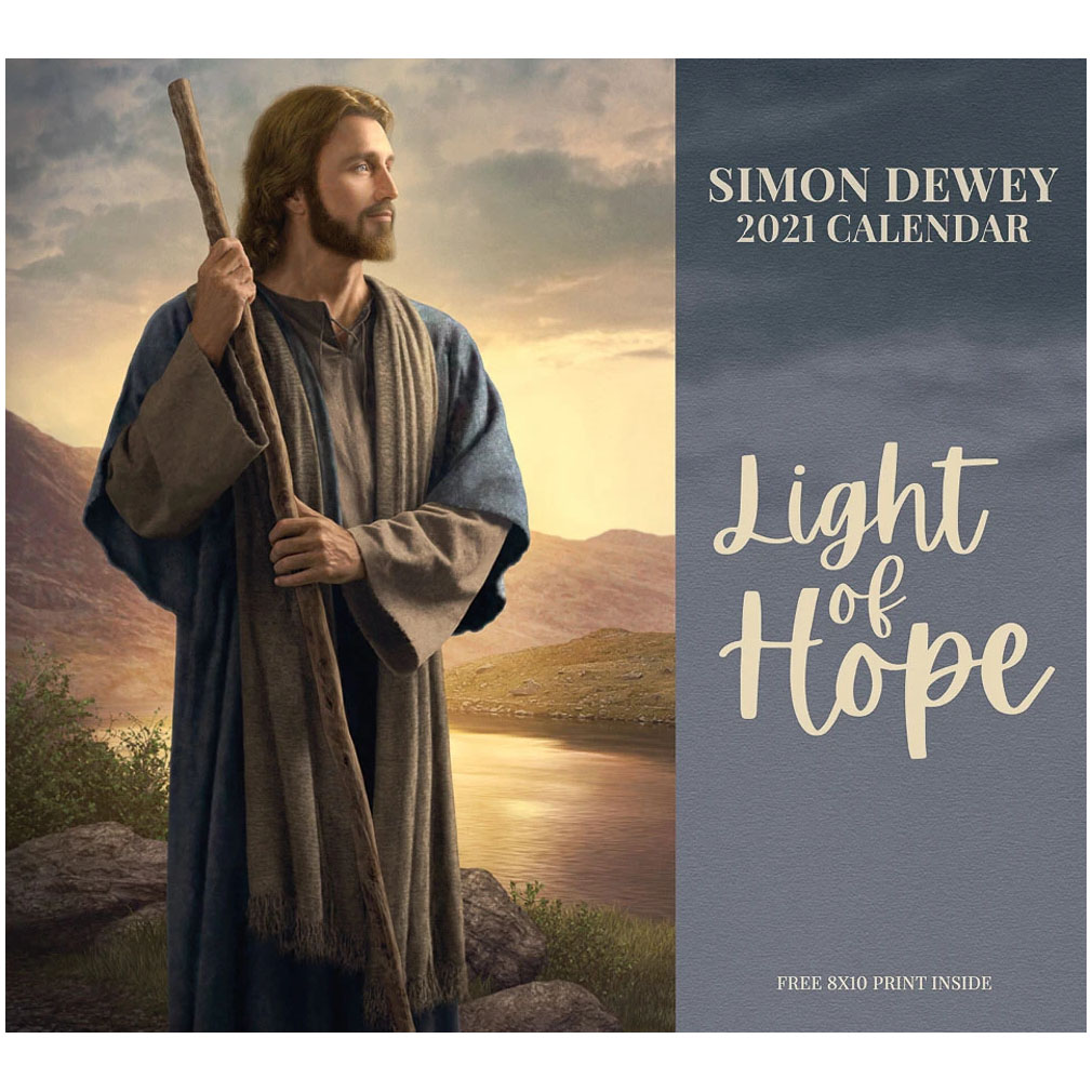 2021 Simon Dewey Calendar - Light of Hope 2021 simon dewey calendar,light of hope,simon dewey,lds calendar,jesus christ calendar,christ calendar