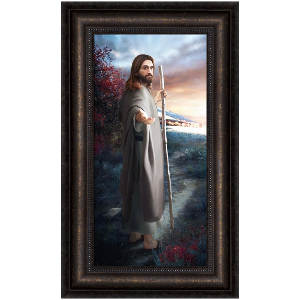 Come Follow Me - Framed Brent Borup artwork, framed art, lds gifts,come follow me,come follow me art,lds art,brent borup art,brent borup lds,lds artwork,come follow me wall art