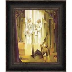 First Vision - Framed first vision, joseph smith painting, joseph smith and the first vision painting, first vision painting, church history painting,
