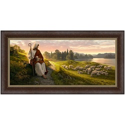 Dear to the Heart of the Shepherd - Framed dear to the heart of the shepherd,lds art,lds,simon dewey,simon dewey art,latter day saint art, latter day saint,simon dwey lds,lds gifts,lds artwork,jesus christ,christian art,art for christians,christ shepherd,christ as a shepherd,jesus christ,jesus christ art,artwork of jesus christ