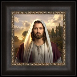 I Am - Framed i am,i am art,simon dewey,as i have loved you art,simon dewey art,lds art,latter day saint art,lds bookstore,lds wall art,lds decor,latter day saint decor,simon dewey wall art
