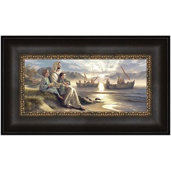 Men Of Galilee - Framed men of galilee,men of galilee art,men of galilee lds,simon dewey,simon dewey art,simon dewey artwork,lds gifts,lds gifts for mom,lds wall art,simon dewey wall art