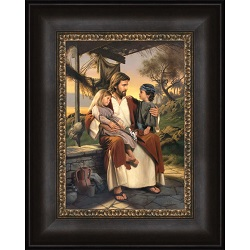 As I Have Loved You - Framed as i have loved you,simon dewey,as i have loved you art,simon dewey art,lds art,latter day saint art,lds bookstore,lds wall art,lds decor,latter day saint decor,simon dewey wall art
