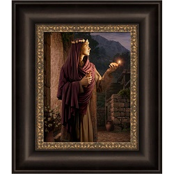 Behold, He Cometh - Framed behold he cometh,simon dewey,behold he cometh art,simon dewey art,simon dewey lds,lds art,lds wall art,jesus christ art,jesus christ wall art,christ wall art,10 virgins,ten virgins