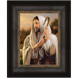 The Good Shepherd - Framed the good shepherd,the good shepherd framed,simon dewey,the good shepherd simon dewey,simon dewey art,simon dewey art work,lds simon dewey,lds art,lds artwork,lds wall art,lds gifts,lds gifts for mom,lds gifts for dad,the good shepherd lds