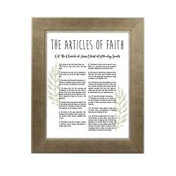 Framed Laurel Articles of Faith - Sandstone - LDP-FR-ART-AOF-LAUREL-SAND