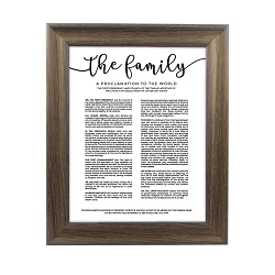 Framed Family Proclamation - Rustic Ash framed family proclamation, family proclamation framed, pretty family proclamation