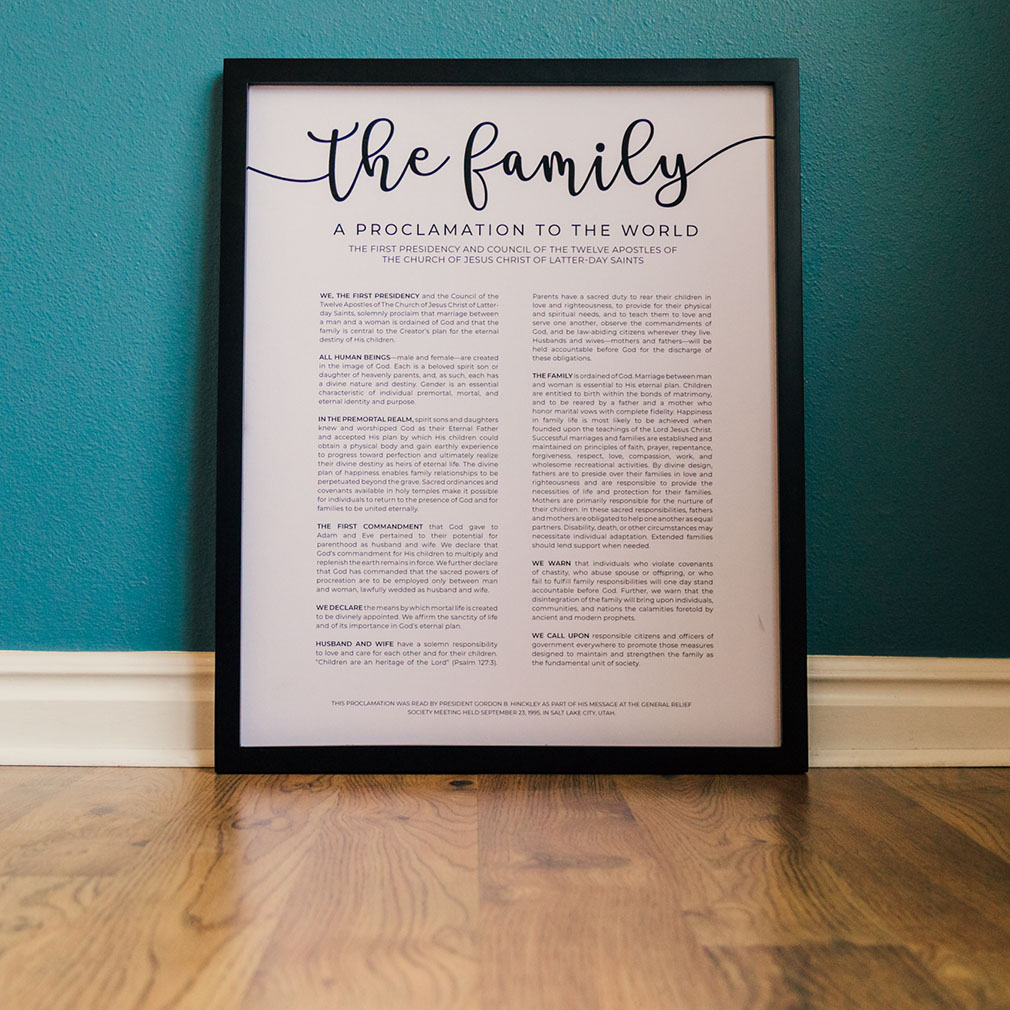Framed Family Proclamation - Black - LDP-FR-ART-FAMPROC-BLK