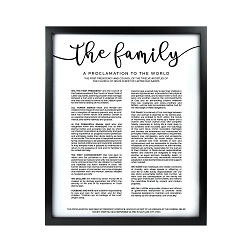 Framed Family Proclamation - Black Framed family proclamation, family proclamation framed