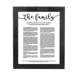 Framed Family Proclamation - Beveled Black framed family proclamation, family proclamation framed, pretty family proclamation