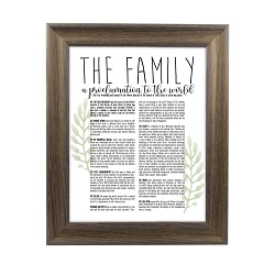 Framed Laurel Family Proclamation - Rustic Ash framed family proclamation, family proclamation framed, pretty family proclamation