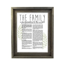 Framed Laurel Family Proclamation - Barnwood framed family proclamation, family proclamation framed, pretty family proclamation