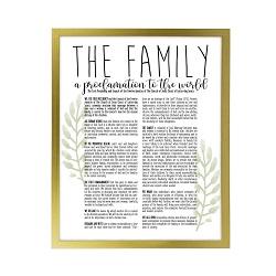Framed Laurel Family Proclamation - Gold framed family proclamation, family proclamation framed, pretty family proclamation