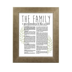 Framed Laurel Family Proclamation - Sandstone framed family proclamation, family proclamation framed, pretty family proclamation
