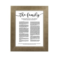 Framed Family Proclamation - Sandstone framed family proclamation, family proclamation framed, pretty family proclamation