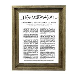 (Pre-order) Framed Restoration Proclamation - Barnwood Framed restoration proclamation, restoration proclamation framed