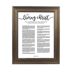 Framed Living Christ - Rustic Ash framed living christ, living christ framed, pretty living christ