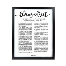 Framed Living Christ - Black Framed living christ, living christ framed