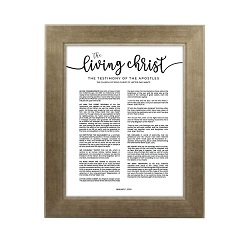Framed Living Christ - Sandstone framed living christ, living christ framed, pretty living christ