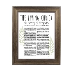 Framed Laurel Living Christ - Rustic Ash framed living christ, living christ framed, pretty living christ