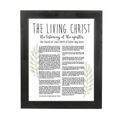 Framed Laurel Living Christ - Beveled Black - LDP-FR-ART-LIVCHR-LAUREL-BVBLK