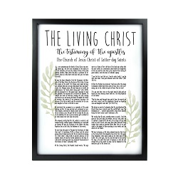 Framed Laurel Living Christ - Black  framed living christ, living christ framed, pretty living christ