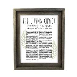 Framed Laurel Living Christ - Barnwood framed living christ, living christ framed, pretty living christ